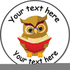 Owl Reading A Book Clipart Image