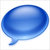 Blue Chat Bubble Image