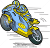 Stock Vector Speeding Motorcycle Racer Image