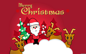Family Christmas Tree Clipart Image