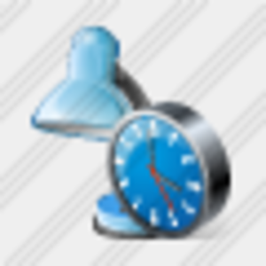 Icon Desk Lamp Clock Image