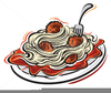 Spaghetti And Meatball Clipart Free Image