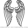 Winged Heart Clipart Image