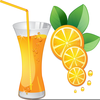 Glass Of Orange Juice Clipart Image