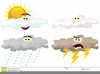 Weather Symbols Cartoon Clipart Image