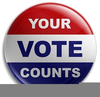 Old People Voting Clipart Image