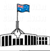 Parliament House Canberra Clipart Image