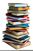 Stacked Books Clipart Image
