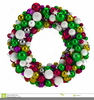 Christmas Advent Wreath Clipart Image