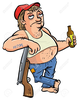 Clipart Of Person Drinking A Drink At A Bar Image