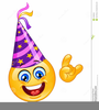 Smiley Face With Birthday Hat Clipart Image