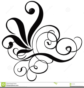 Free Black Scrollwork Clipart Image