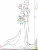 Bride And Groom Sketch Clipart Image