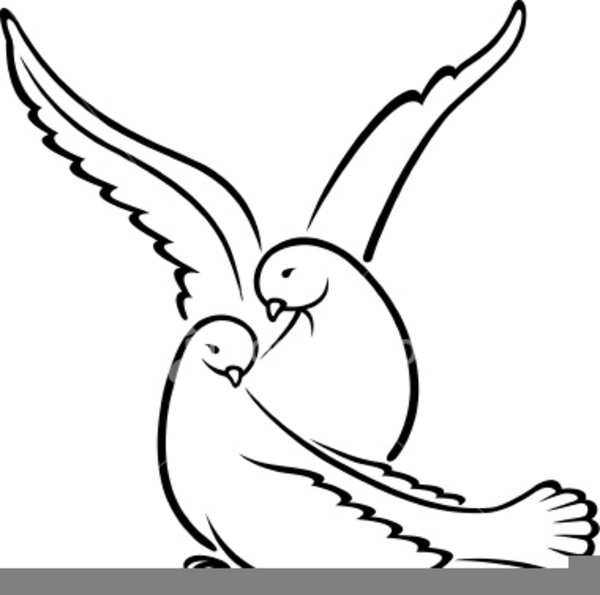 Wedding Dove Clipart | Free Images at Clker.com - vector ...