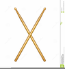 Crossed Drumsticks Clipart Image