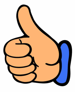 thumbs up thumb clip art at vector free images at clker com rh clker com free online clipart thumbs up free clipart smiley face thumbs up
