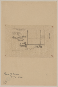 Plan Of House And Garden Image