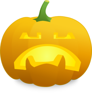 Unhappy Jack O' Lantern Clip Art