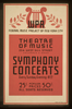 Symphony Concerts Wpa Federal Music Project Of New York City Theatre Of Music. Image