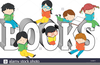 Children And Books Clipart Image