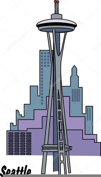 seattle space needle clipart free images at clker com vector