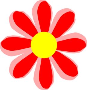 Flower Cartoon Red Clip Art