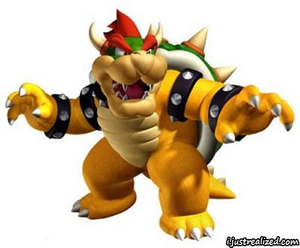 super mario bowser image - Bowser Coloring Pages