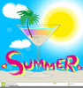 Summer Cocktail Party Clipart Image