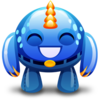 Blue Monster Happy Icon Image