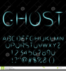 Halloween Font Clipart Image