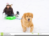 Kid Pulling Sled Clipart Image