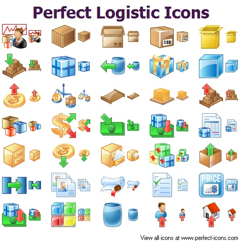Perfect Logistic Icons Free Images At Clker Com Vector