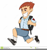 Girl Going To School Clipart Image