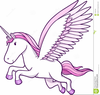 Flying Unicorn Clipart Image