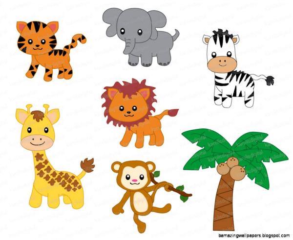 Cartoon Jungle Animals Clipart | Free Images at Clker.com ...