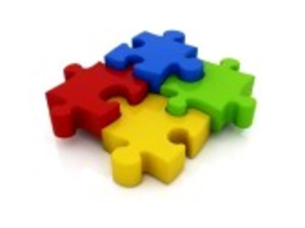 Jigsaw Puzzle D Icon Isolated On White