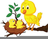 Mom And Baby Bird Clipart Image