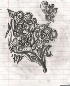 abstract sketches pencil image