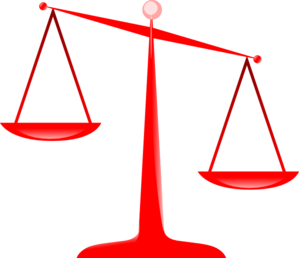 Scales Of Justice (red) Clip Art