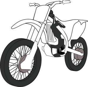 Black White Motorcycle Clip Art