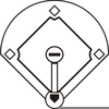 Black And White Baseball Clipart Free Image