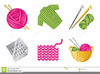 Knitting And Crocheting Clipart Image