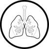 Vector Lungs Icon Black And White Simply Change Image