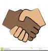 Black And White Hands Shaking Clipart Image