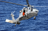 N Mh-60s Knighthawk Helicopter Assigned To The  Providers  Of Helicopter Composite Squadron Five (hc-5) Slows Down For A Landing On The Flight Deck Of The Military Sealift Command Ship Usns Concord (t-afs 5) Image