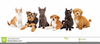 Dogs And Cats Together Clipart Image