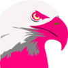 Florescent Pink Eagle Clip Art
