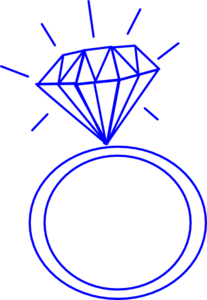 Diamond Ring-blue Clip Art