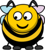 Bee Looking Left-down Clip Art