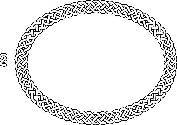 4 Plait Border Oval Clip Art At Clker Com Vector Clip